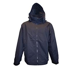 Black Crew Jacket with Hood