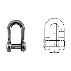 Shackle with Sink Pin - Stainless Steel AISI316