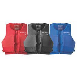 Size L FOIL PFD Front ZIP Mercury Red