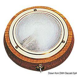 Light Fixture Polished Brass/Teak