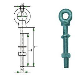 Eye bolt w/nut & washer HDG. 8x60mm