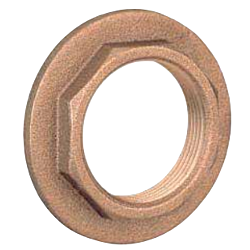 Flanged Lock Nut Light Series (Bronze)