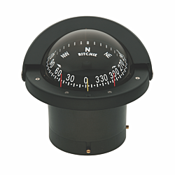 "Ritchie Navigator™ FN-203, 4½"" Dial Flush Mount Direct Read - Black"