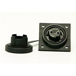 2 Pin Low-Flange Socket & Cap