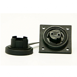 3 Pin Low-Flange Socket & Cap