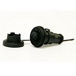 9 Pin In-line Socket & Cap
