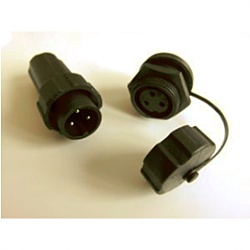 3Pin Plug/socket pair (inc. protective cap for socket)