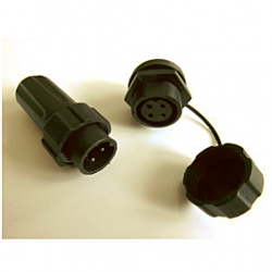 4Pin Plug/socket pair (inc. protective cap for socket)