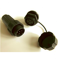 5Pin Plug/socket pair (inc. protective cap for socket)