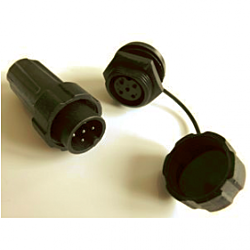 6Pin Plug/socket pair (inc. protective cap for socket)
