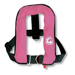 ISO Automatic Life Jacket Kids with harness 150N Pink