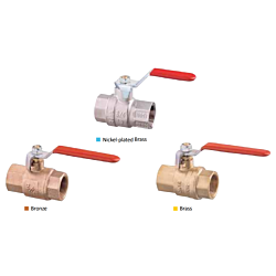 Lever Operated Ball Valve F-F-Full Flow Brass Body