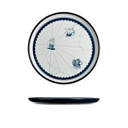 Columbus Flat Plate 6 Pieces - 25 Cm.