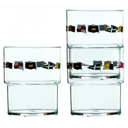 Regata Set 12 Unit Stackable Glass