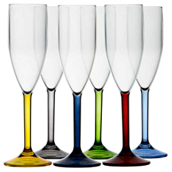 Party Champagne Glasses - Coloured Based