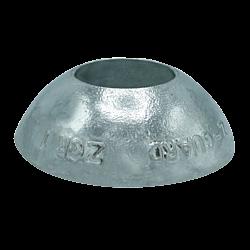 Zinc Hull Anode DISC 0.4KGS NOM NET WEIGHT 70MM DIA