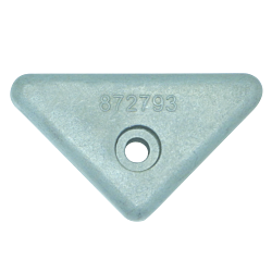 Zinc Engine Anode VOLVO Penta Side Mounted triangle for 290, 290DP, SX, DP-X.