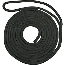 Waveline 16mm Pre-Spliced Dockline Black 14M