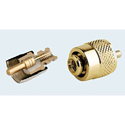 PL259 Connector Gold Plated Solderlessfor RG58