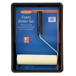 Roller with Foam sleeve set 9""