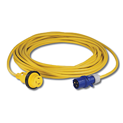 Cordset, 16A 230V, 20M, With European Plug, Yellow