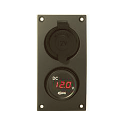 12v Power Supply and Voltmeter Panel