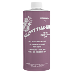 Snappy Teak-Nu two-part teak cleaner and restorer