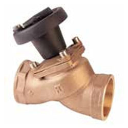 """Threaded """"non stick"""" valve with position indicator (bronze)"""