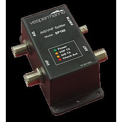 AIS/VHF/FM Splitter AIS amplifier gain and antenna VSWR indicator