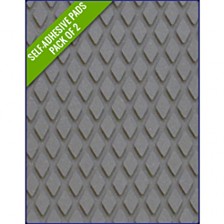 GREY - Original Step Pads DiamondPattern 275x135x3/2mm
