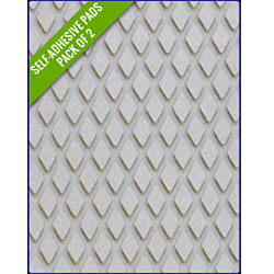 LIGHT GREY - Original Step Pads Diamond Pattern 412x203x3/2mm