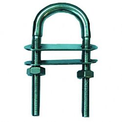U-Bolt with double plate SS316 8x80mm