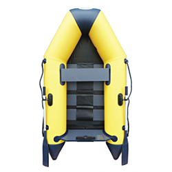 2.50m Yellow WavEco Ultra inflatable boat with a solid transom & slatted Floor
