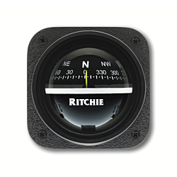 "Ritchie Explorer™ V-537, 2¾"" Dial Bulkhead Mount - Black Card"