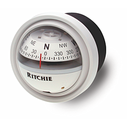 "Ritchie Explorer™ V-57.2, 2¾"" Dial Dash Mount - White"