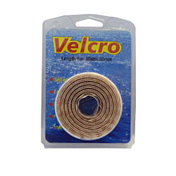 25m X 20mm - White Hook & Loop tape