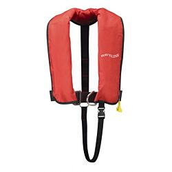 165N ISO Red Auto Harness LifeJacket With Crutch Strap