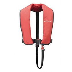 165N ISO Red Auto LifeJacket With Crutch Strap