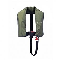165N ISO Olive Auto Harness LifeJacket With Crutch Strap