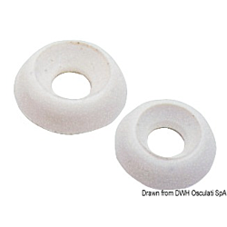 Nylon Under-Screw Washer White 4mm
