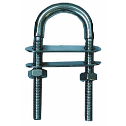 U-Bolt with double plate AISI304 4x62mm