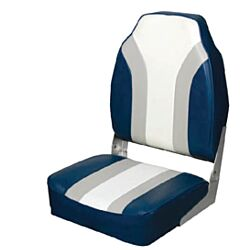 Highback Folding Seat Grey/Blue/White