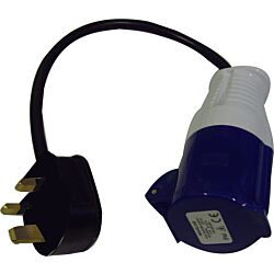 UK Hookup Adapter Ind Plug 16A 250VAC to 3-Pin plug
