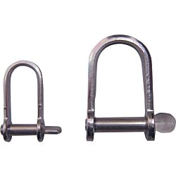Flat Dee Shackle - Stainless Steel AISI304