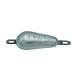 Aluminium Pear shaped Hull Anode 1 Kgs Nominal Net Weight