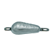 Zinc Pear shaped Hull Anode 2.1 Kgs Nominal Net Weight