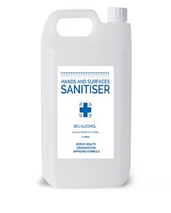 Hand Sanitiser - 80% Alcohol-5L- WHO Formula